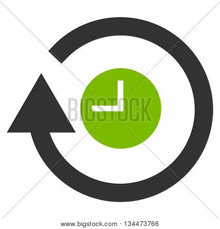 Repeat Clock vector icon. Style is bicolor flat icon symbol, eco green and gray colors, white background.