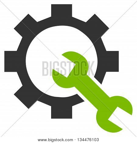 System Setup vector icon. Style is bicolor flat icon symbol, eco green and gray colors, white background.