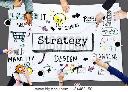 Method Strategy Business Work flow Progress Concept