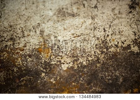 background - close up of metal table with rust