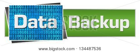 Data backup concept image with text written over conceptual background.