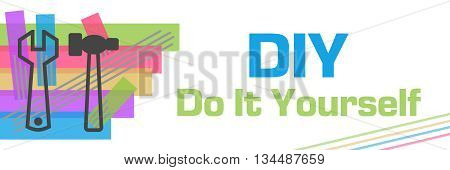 DIY - Do It Yourself concept image with text and related symbol.