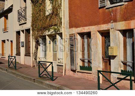 La Roche Guyon France - february 29 2016 : the picturesque village in winter