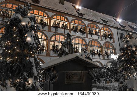 Winter night in Regensburg - goose preacher
