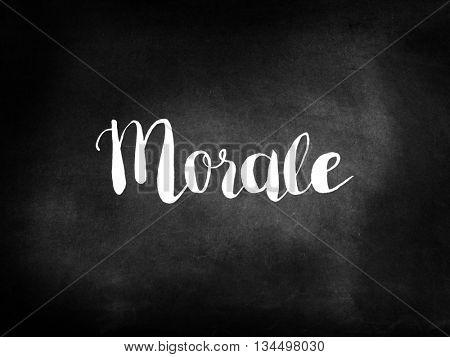 Morale written on blackboard