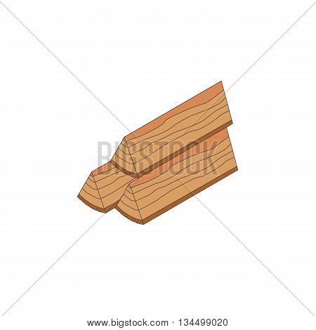 Firewood stack isometric icon. Vecotr illustration isolated