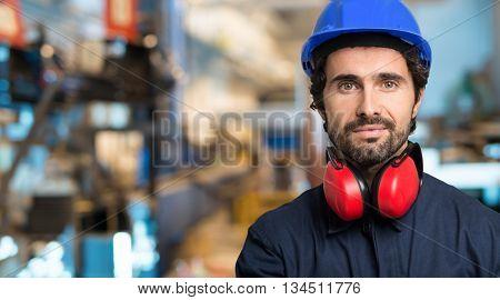 Portrait of a mechanical engineer
