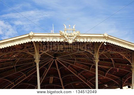 Cannes France - april 17 2016 : bandstand in the picturesque old city center