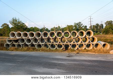 Construction pipes for new construction on Atlanta Suburbs