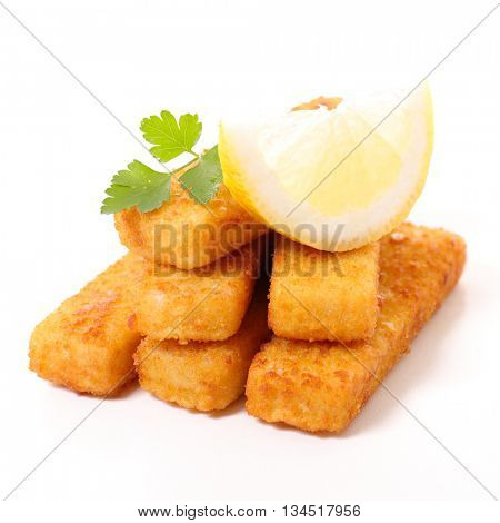 fish stick isolated on white