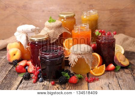 collection of jam and marmalade