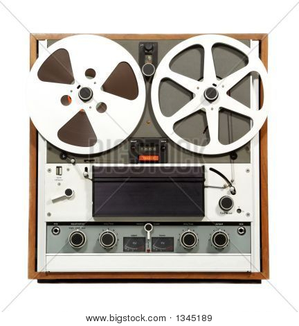 Retro Open Reel Audio Recorder
