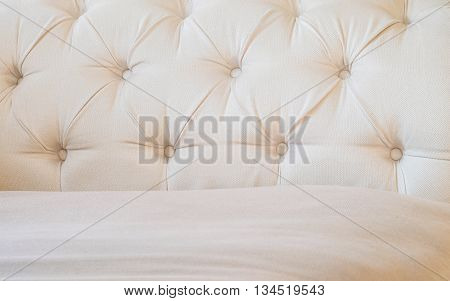 Closeup surface brown fabric at the sofa textured background