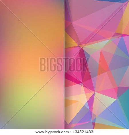 Abstract Background Consisting Of Rainbow Triangles And Matt Glass, Vector Illustration