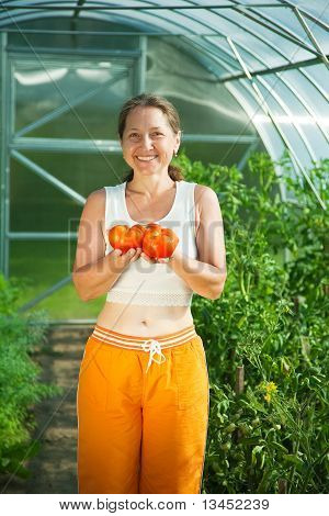 Woman With Tomato