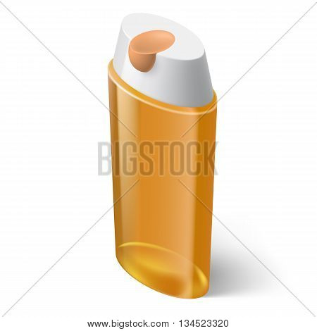 Shampoo Yellow Icon in Isometric Style on White