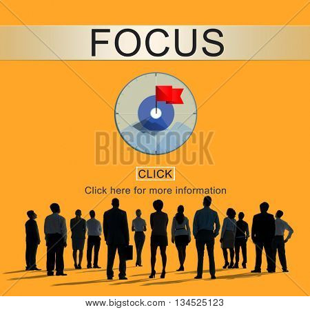 Focus Determine Focal Point Spotlight Vision Concept