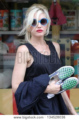 LONDON, UK - AUGUST 20, 2013: Gwen Stefani seen out for a walk in Primrose hill in London