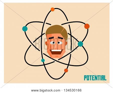 Potential people. Flat vector illustration.