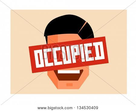 Occupation graphic. Flat vector illustration.