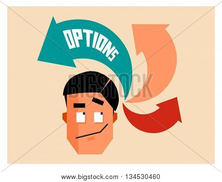 Option graphic. Flat vector illustration.