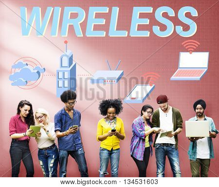 Wireless Wifi Router Digital Connection Concept