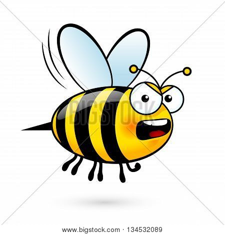 Illustration of a Yell Bee on White