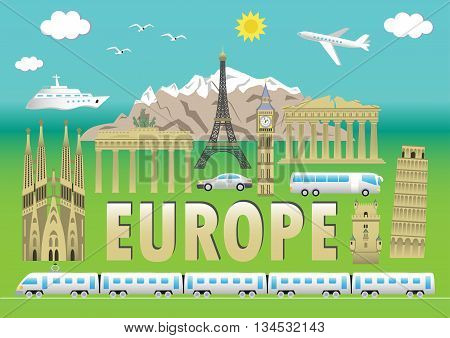 Europe Travel Colour Set