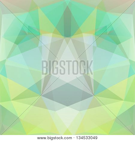 Abstract Background Consisting Of Light Green Triangles, Vector Illustration