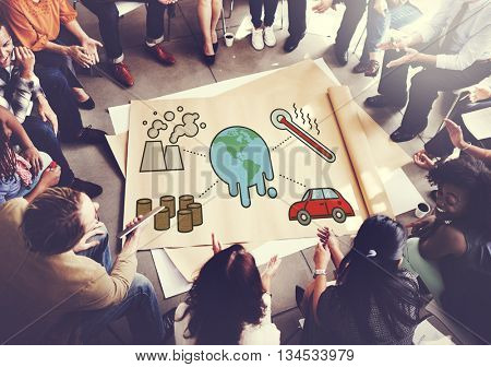 Ecology Environment Planet Global Warming Concept
