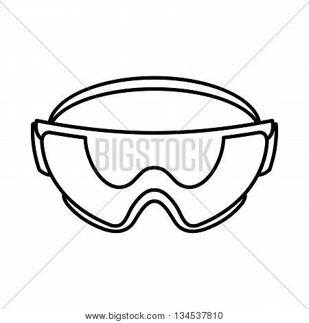Safety glasses icon in outline style isolated on white background