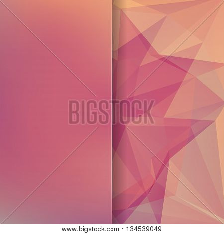 Abstract Background Consisting Of Pink, Orange Triangles And Matt Glass