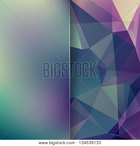 Abstract Background Consisting Of Green, Blue, Purple Triangles And Matt Glass
