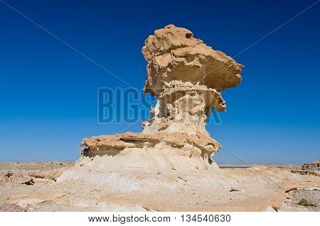 Rock formations in Wadi Aydam in Oman