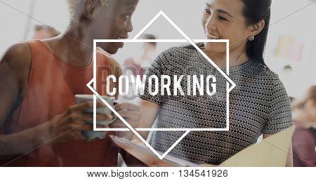 Coworking Community Freelance Entrepreneur Concept