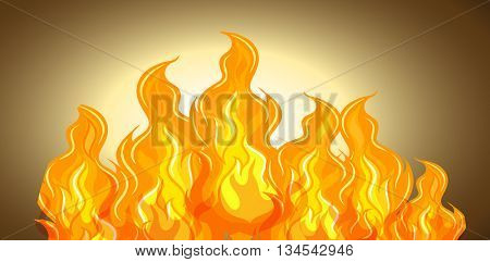 Flame of fire background illustration