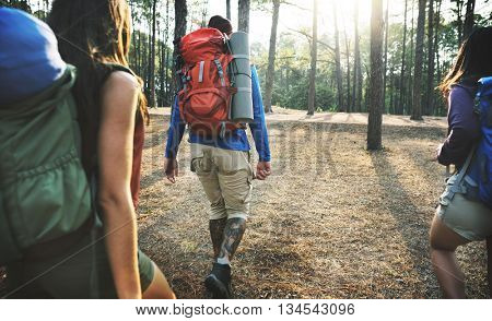 Camp Forest Adventure Travel Remote Relax Concept