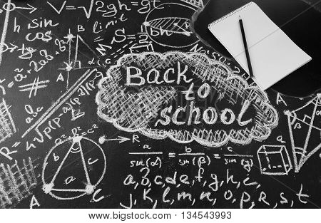 Back to school background with title