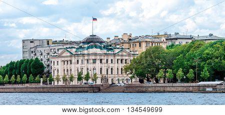 Petrovskaya Embankment In St.petersburg
