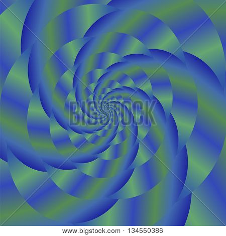 Fractal Design. Abstract Colorful Sphere. Colored Spiral Background. Fractal Pattern