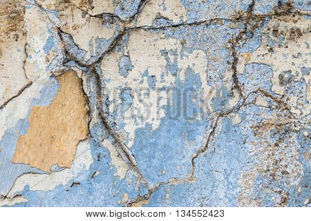 Detail of the cracked plaster - grunge texture