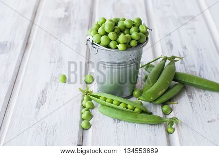 Green Peas In A Bucket