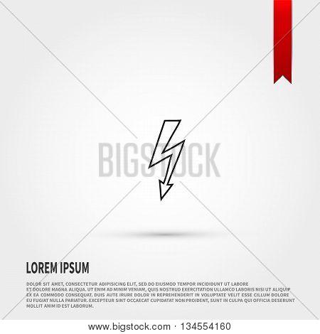 Lightning icon vector. Lightning cigarette icon JPEG. Vector illustration design element. Flat style design icon.
