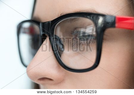Confident Business Woman In Glasses