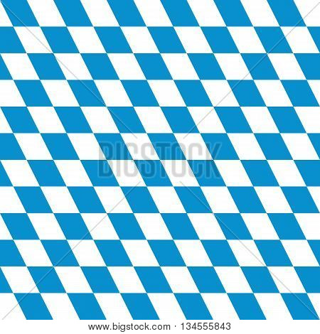 Seamless Background Of Blue And White Diamonds - Used In The Coat Of Arms Of Bavaria