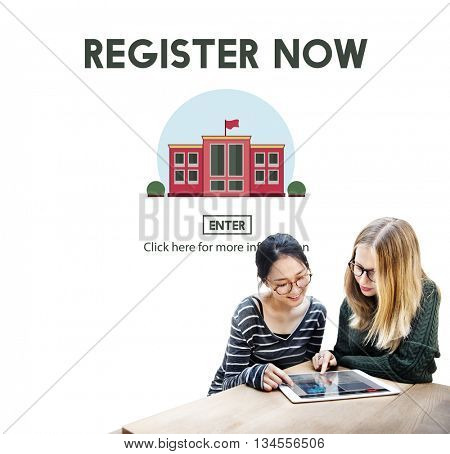 Register Now E-learning Education Website Concept