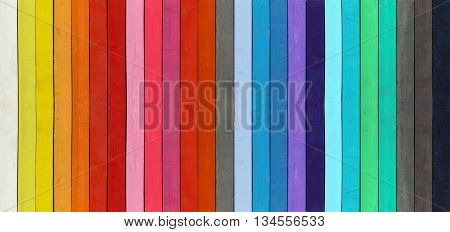 Color range - macro - detail of the colored pastel wooden planks