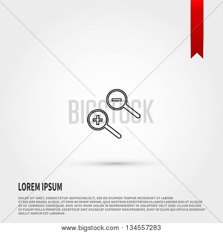 Magnifying glass icon vector. Vector illustration. Search.