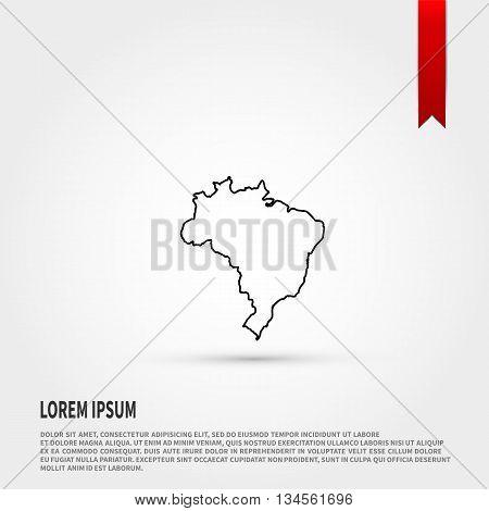 Map of Brazil. Vector illustration. Vector icon.