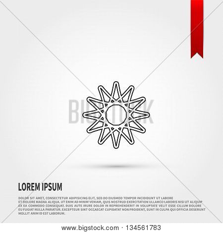 Abstract icon vector. Abstract icon JPEG. Vector illustration design element. Flat style design icon.